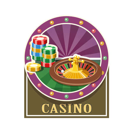 ardour: Casino. Roulette and counter. Eps10 vector illustration. Isolated on white background Illustration