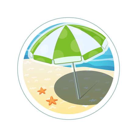 health resort: Beach umbrella. Eps10 vector illustration. Isolated on white background