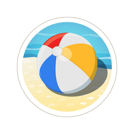 health resort: Beach ball. Eps10 vector illustration. Isolated on white background Illustration