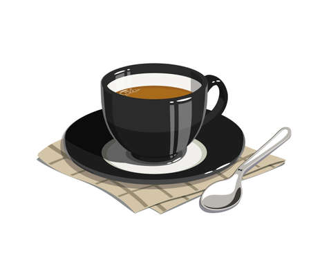 ingestion: Cup of coffee. Eps10 vector illustrations. Isolated on white background Illustration