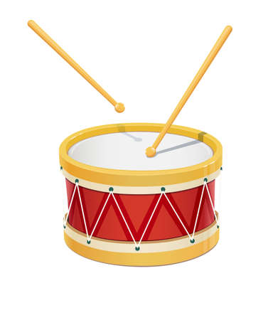 snare drum: Drum. Music instrument. Eps10 vector illustration. Isolated on white background