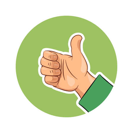 ok sign: Hand gesture ok. Eps10 vector illustration. Isolated on white background