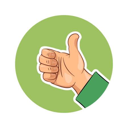 Hand gesture ok. Eps10 vector illustration. Isolated on white background