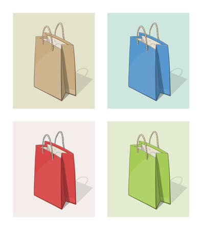 tare: Paper bag for shopping. Eps10 vector illustration Illustration
