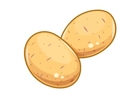 Couple potatoes vector illustration, Eps10 Isolated white background