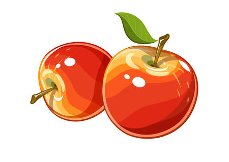 ripe: Ripe juicy apple
