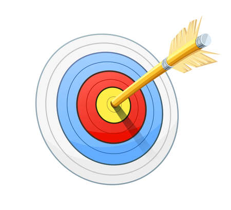 intentions: Arrow for bow shooting. Sport success, luck, performance. vector illustration, eps10 isolated white background Illustration