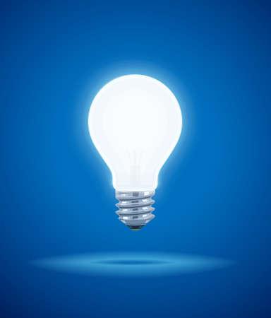 fluorescence: Saving power Shining Electric bulb. Light glass lamp. Economical energy. Vector illustration, eps10 Illustration