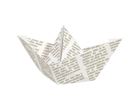 Paper origami ship. Handmade toy. vector illustration, eps10 isolated white background Illustration