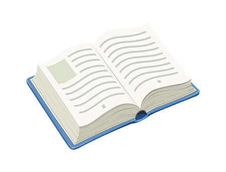 Open blue book.