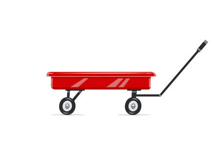 Cart. Childs toy. Agriculture tool. Housekeeping equipment. Isolated white background. Eps10 vector illustration. Banco de Imagens - 81305194