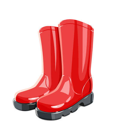 Rubber Garden boots Illustration