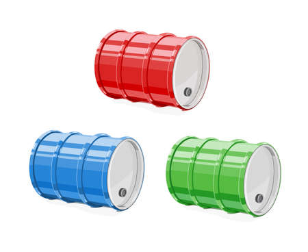 Metal barrel for oil vector illustration. Stok Fotoğraf - 83876658
