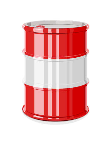 Black metal barrel for oil. Equipment for transportation fuel. Çizim