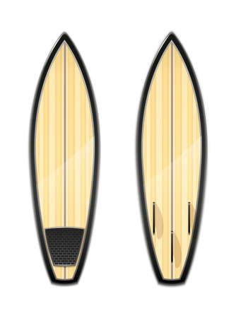 Surf board for surfing. Sport inventories. Sporting Hobby. Wave Surfboard. Ilustração