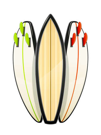 Surf board for sutfing. Sport inventories. Sporting Hobby. Wave Surfboard. Isolated white background. Eps10 vector illustration.