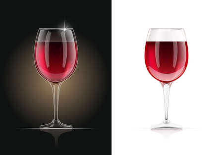 Red Wine glass. Alcohol and drink beverage. EPS10 vector illustration.