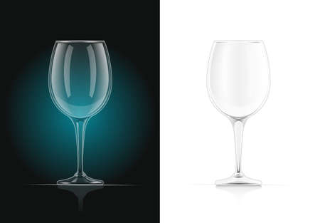 Wine glass. Alcohol and drink beverage. EPS10 vector illustration.