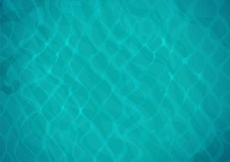 Acqua di mare. Superficie dell'oceano con onda. Vista dall'alto. Bacino di acqua blu. Eps10 illustrazione vettoriale. Vettoriali