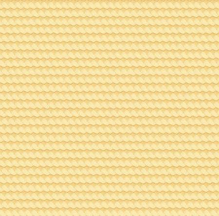 Trama astratta di paglia. Stuoia in rattan. Modello senza cuciture di bambù naturale. Superficie del cestino in vimini. Tappeto di canne intrecciate. Illustrazione vettoriale. EPS 10