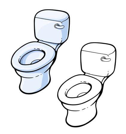 Toilet bowl Ceramic equipment for toilet Equipment, isolated on white background. Eps10 vector illustration.