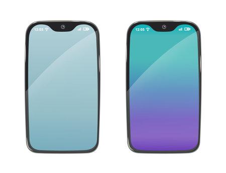 Phone. Modern Smartphone, mobile phone in flat design style. Vector illustration.