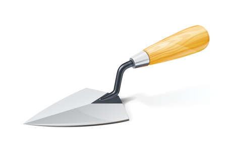 Trowel. Tool for building. Isolated on white background. Eps10 vector illustration.