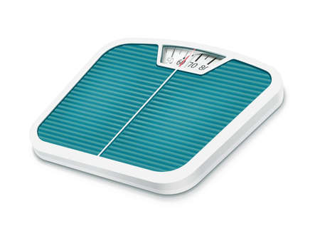 Bathroom scales. Home device for weighing, Isolated on white background. Eps10 vector illustration. Vettoriali