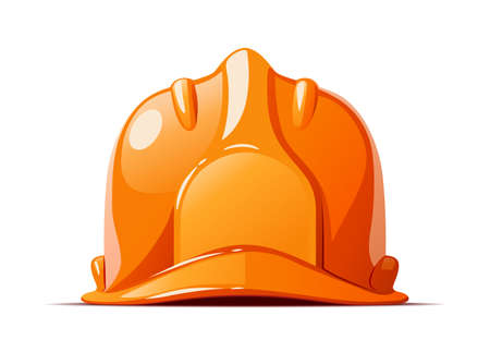 Helmet. Head protections for working, Isolated on white background. Eps10 vector illustration.