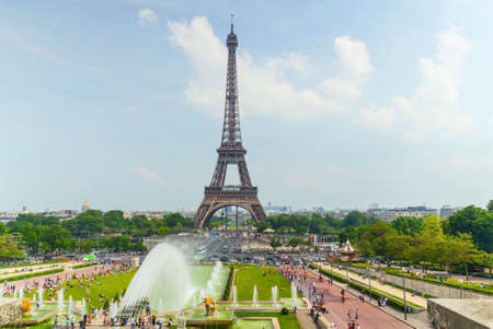 Eifel Tower in Paris Stock Photo