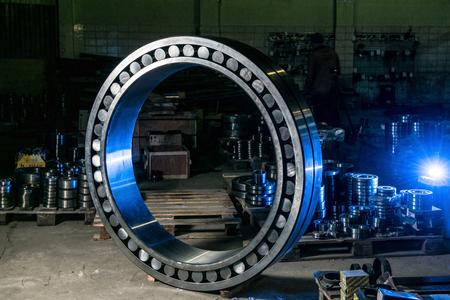 bearing: Great worth bearing in stock bearings in blue light Stock Photo