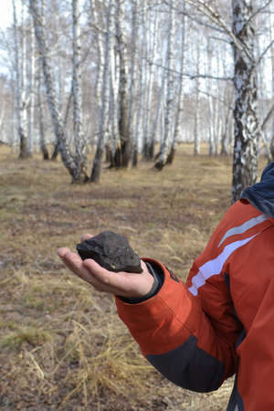 fragments of Chelyabinsk meteorite found in the winter and spring of 2013 near the city Chebarkul