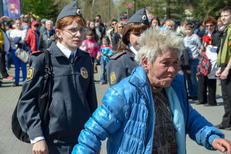 Chelyabinsk Russia May 9 2014 the police arrested the troublemaker on a holiday