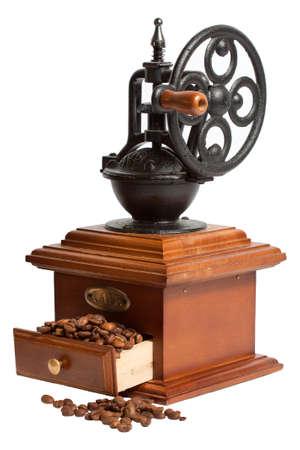 moedor de café de grão de café Foto de archivo