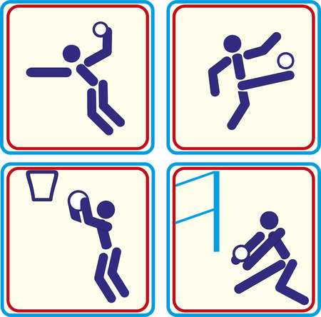 adrenaline rush: World Sport training, icon, vector Illustrations