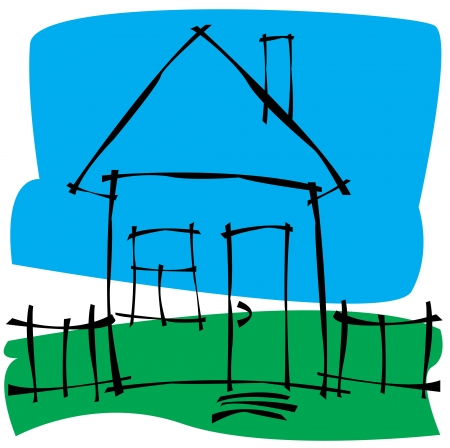 scetch: vector scetch house