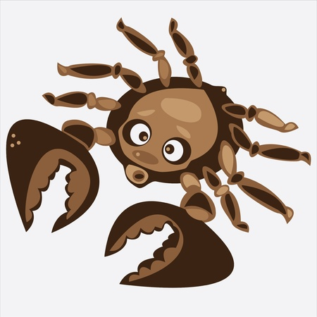 brown cartoon vector crab isolated on white background Stock Vector - 17470511