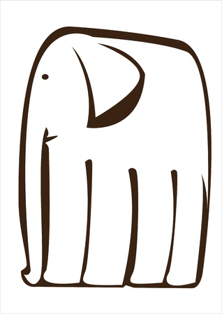 graphic vector elephant isolated on white background Stock Vector - 17603881