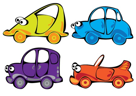 cartoon cars set isolated on white background Stock Vector - 17740480