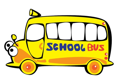 vector cartoon yellow school bus isolated on white background Stock Vector - 17880619