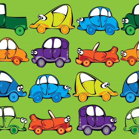 vector seamless multicolor cars pattern Stock Vector - 17880630
