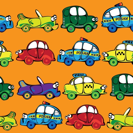 vector seamless multicolor cars pattern Vector