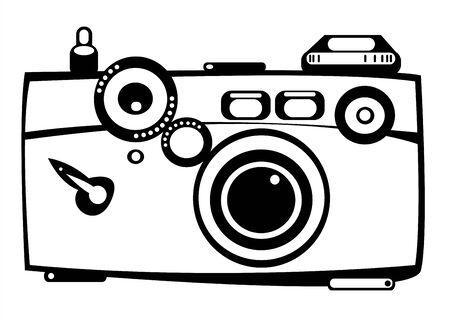 vector vintage film photo camera isolated on white background Illustration