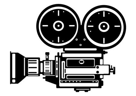 vintage film camera isolated on white background Illustration