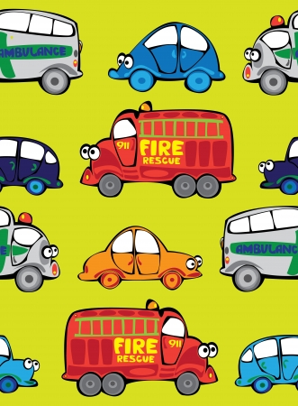 seamless multicolor cars pattern Vector