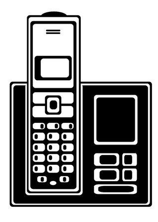 vector cordless telephone isolated on white background Vector