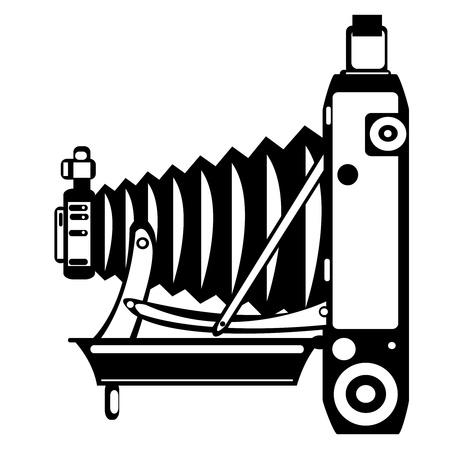 old camera: vector vintage film camera isolated on white background Illustration