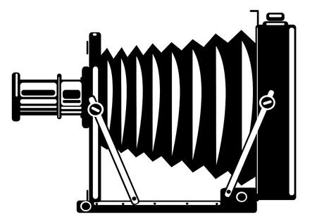vector vintage film camera isolated on white background Illustration