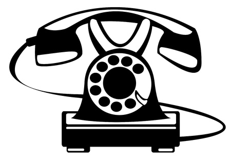 vector retro phone isolated on white background Illustration