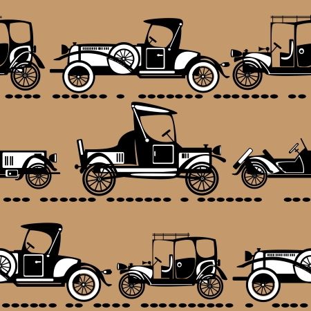 seamless retro automobile pattern Vector